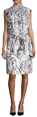 Emilio PucciPeople Print Tie Knee Length Dress