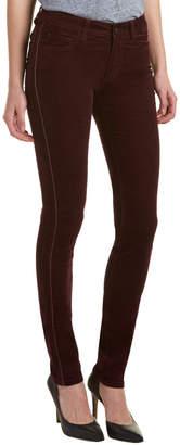 Zadig & Voltaire Eva Velours Prune Leather-Trim Corduroy Skinny Leg