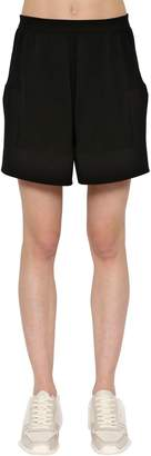 Rick Owens Cotton & Cashmere Knitted Shorts