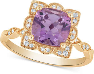 Macy's Amethyst (2 ct. t.w.) & Diamond (1/10 ct. t.w.) Ring in 14k Gold