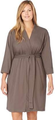 Jockey Plus Size Modern Cotton Wrap Robe
