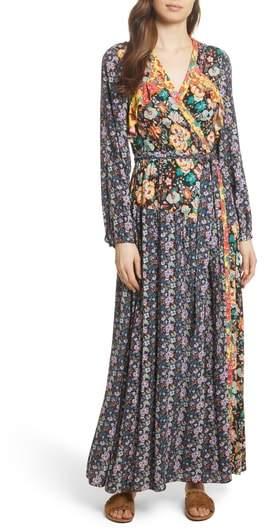 Mixed Floral Wrap Dress