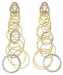 Buccellati Waikiki 18k Short Diamond Drop Earrings