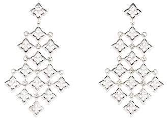 Pre Owned At Therealreal David Yurman Diamond Quatrefoil Chandelier Earrings