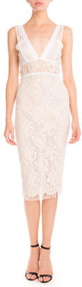 Victoria Beckham Lace Sleeveless Sheath Dress $2,870 thestylecure.com