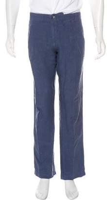 Vilebrequin Linen Flat Front Pants