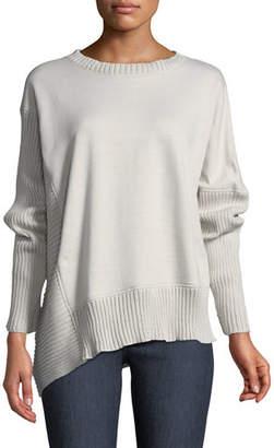 Neon Buddha South Beach Pullover Sweater w/ Asymmetric Hem, Plus Size