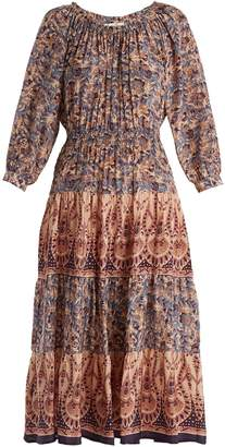 Sea Vintage-print silk dress