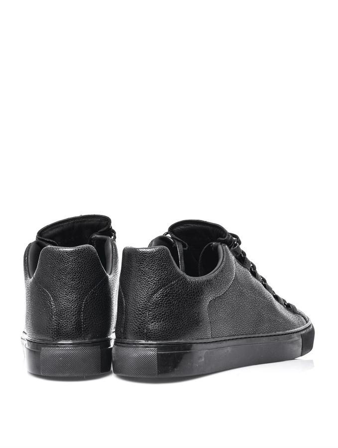 Balenciaga Stingray-print leather trainers
