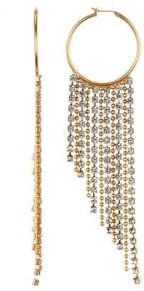 Loren Hope Joan Crystal Chain Hoop Earrings