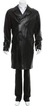 Dolce & Gabbana Leather Duster Jacket