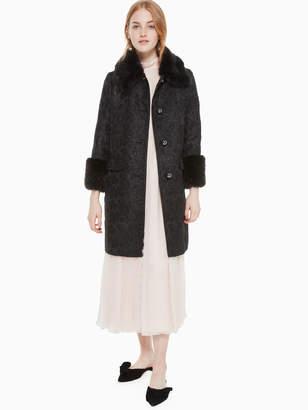 Kate Spade metallic jacquard coat