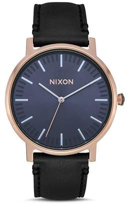 Nixon Porter Black Strap Watch, 40mm