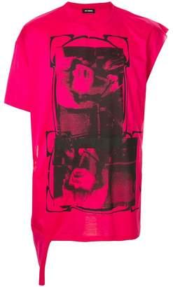 Raf Simons Toyah asymmetric sleeve T-shirt