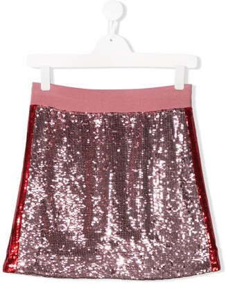 Alberta Ferretti Kids TEEN sequinned mini skirt