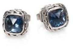 John Hardy Classic Chain Sterling Silver Stud Earrings