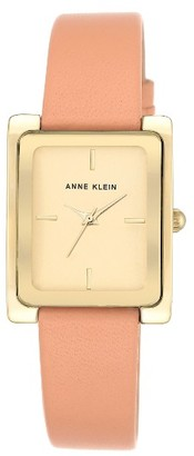 Women's Anne Klein Rectangle Leather Strap Watch, 28Mm $65 thestylecure.com