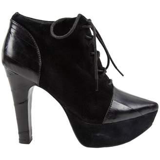 Rodarte Black Eel Heels