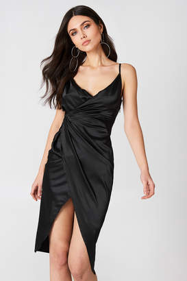 boohoo Satin Strappy Dress