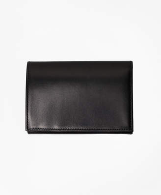 Brooks Brothers French Calfskin Trifold Wallet