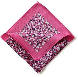 Marks and Spencer Pure Silk Floral Print Pocket Square