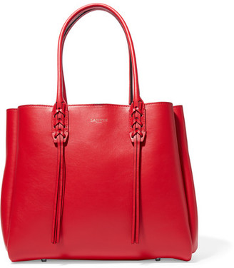 Lanvin - The Shopper Small Leather Tote - Red $1,550 thestylecure.com
