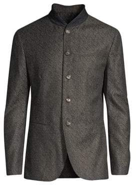 John Varvatos Wool-Blend Shawl Collar Blazer Jacket