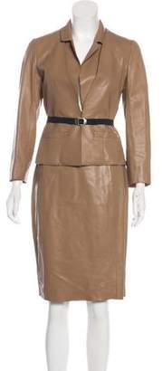Paule Ka Leather Skirt Set