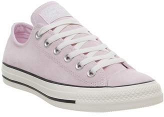 88f04f8c8662 Converse Allstar Low Leather Trainers Pink Foam Black Egret Exclusive