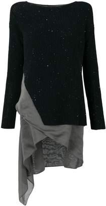 Fabiana Filippi ribbed sweater with asymmetric hem