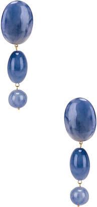 Lele Sadoughi Resin Bubble Drop Earrings in Cobalt | FWRD