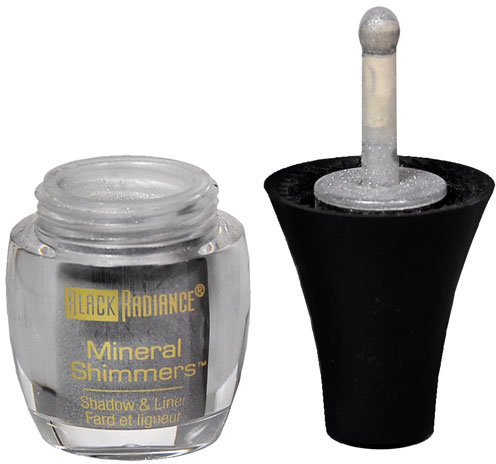 Black Radiance Mineral Shimmers Eye Shadow & Liner,Metallic Silver 3114