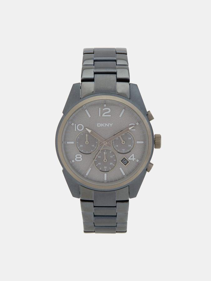 DKNYCrosby Blue Metal Chronograph Watch