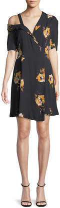 A.L.C. Lucia Off-the-Shoulder Floral Silk Mini Dress