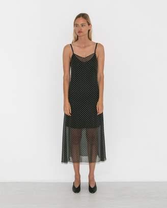 Organic by John Patrick Black/White Chiffon Dot Slip Dress