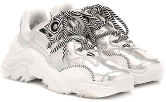 N°21 Billy metallic leather sneakers