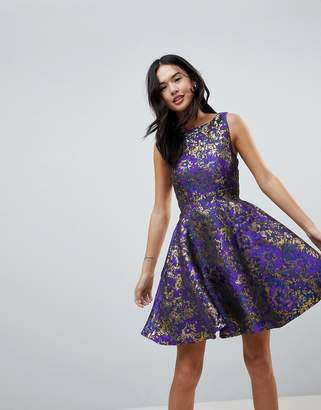 Little Mistress Jacquard Prom Skater Dress