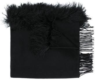 CHARLOTTE SIMONE fringed scarf