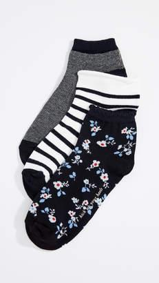 Kate Spade Stripe Anklet Sock 3 Pack