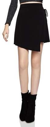 BCBGeneration Asymmetric Faux-Wrap Mini Skirt