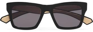 Dita - Insider-two D-frame Acetate Sunglasses - Black $600 thestylecure.com