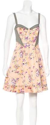 Zac Posen Z Spoke by Floral Mini Dress