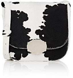 Calvin Klein Women's Cow Hair Saddle Bag-Blk, White