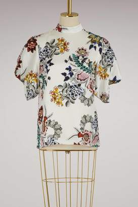 Erdem Omara puffy-sleeved top