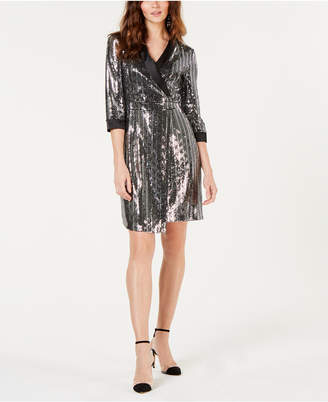 INC International Concepts I.n.c. Mirror-Ball Blazer Mini Dress