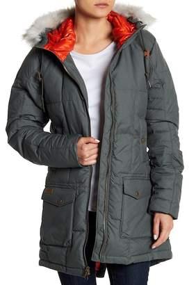 Columbia Della Fall Jacket w/ Detachable Faux Fur Trimmed Hoodie