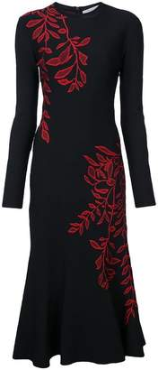 Oscar de la Renta long-sleeve knitted dress