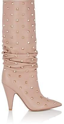 Valentino Women's Rockstud Leather Knee Boots