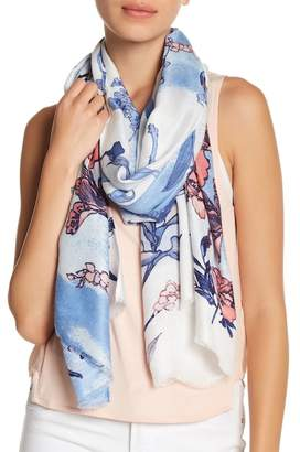 Nordstrom Rack Ancient Beauty Floral Print Wrap Scarf