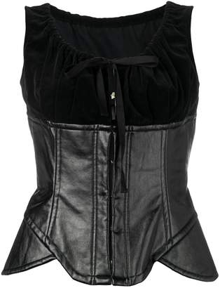 Comme des Garcons Pre-Owned 2001's artificial leather bustier